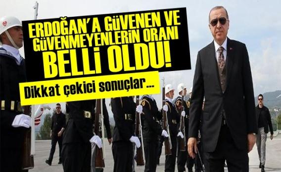 Erdoğan'a Güvenenlerin Oranı Belli Oldu!