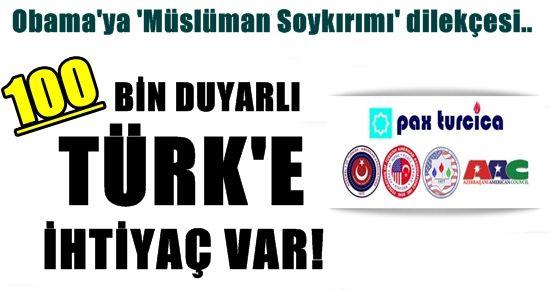 100 BİN DUYARLI TÜRK'TEN BİRİ DE SİZ OLUN!