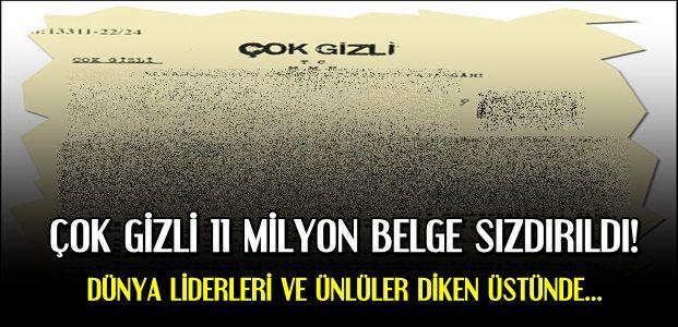 11 MİLYON BELGE SIZDIRILDI...