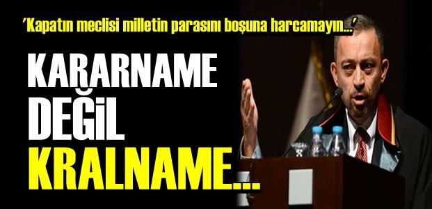 ÜMİT HOCA'DAN SERT ELEŞTRİ!..