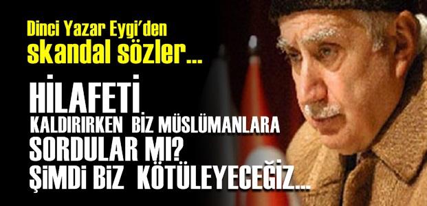 YİNE ATATÜRK DEVRİMLERİNİ HEDEF ALDI!..