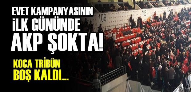 BOŞ TRİBÜNÜ KENDİLERİ DOLDURMAYA ÇALIŞTI!