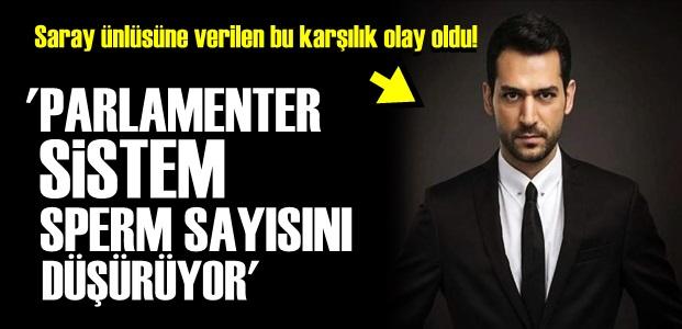 'PARLAMENTER SİSTEM SPERM SAYISINI DÜŞÜRÜYOR'