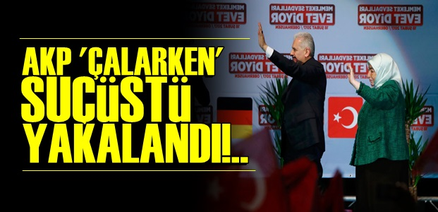 'ÇALARKEN' YAKALANDI!..