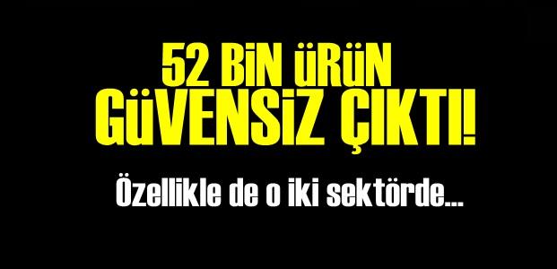 52 BİN ÜRÜN GÜVENSİZ ÇIKTI!..