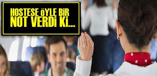 HOSTESE ÖYLE BİR NOT VERDİ Ki...