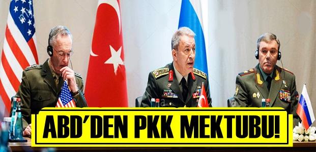 ABD'DEN FLAŞ PKK MEKTUBU!