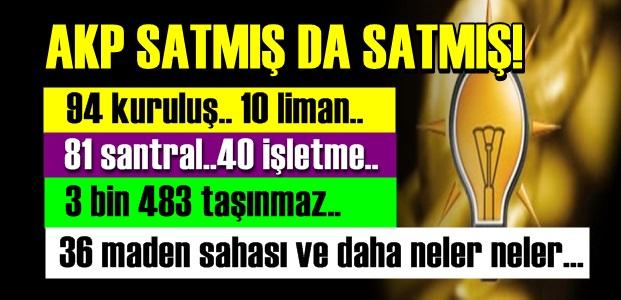 SATILMADIK BİR VATAN KALMIŞ!