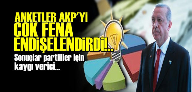 SON ANKETLER AKP'Yİ FENA ELEŞTİRDİ!..