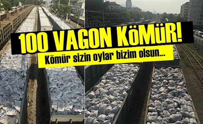 100 VAGON KÖMÜR SEÇİME HAZIR!