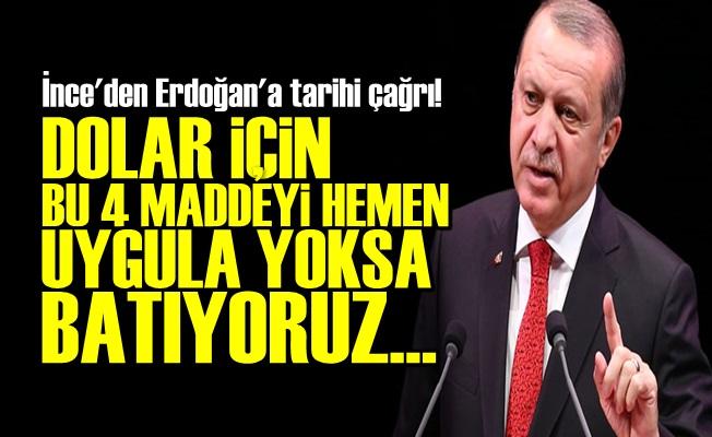 ERDOĞAN'A ACİL 4 MADDELİK TARİHİ ÇAĞRI!