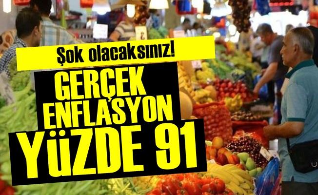 Gerçek Enflasyon Yüzde 91!