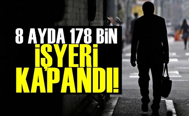 178 Bin İşyeri Kapandı!