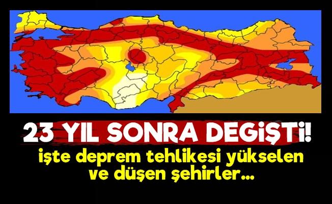 Iste Turkiye Nin Yeni Deprem Haritasi