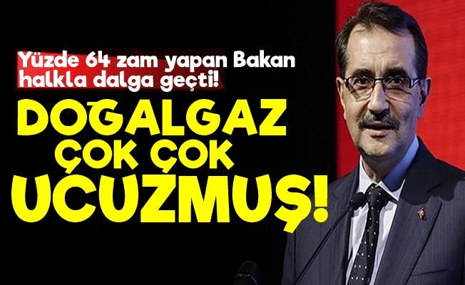 AKP'li Bakan: Doğalgaz Çok Ucuz...