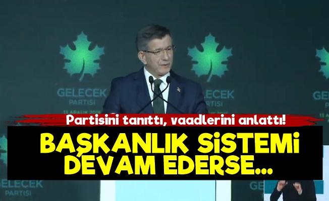 Davutoğlu Gelecek Partisi'ni Anlattı!