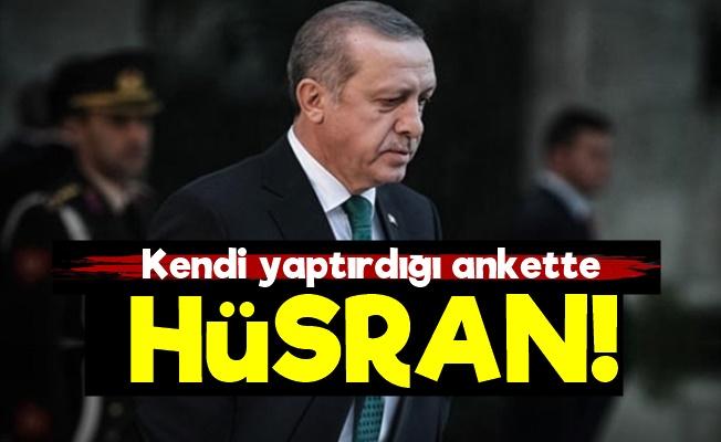 Erdoğan Kendi Anketinde Hüsrana Uğradı!