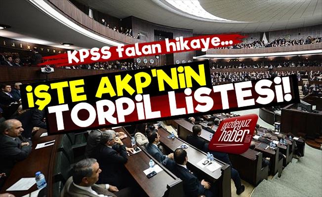 İşte AKP'nin Torpil Listesi!