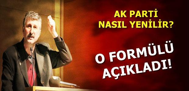 AKP'Yİ YENMENİN FORMÜLÜNÜ AÇIKLADI!