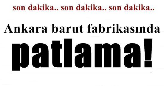ANKARA'DA BİR PATLAMA DAHA!