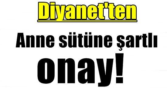 ANNE SÜTÜNE 'ŞARTLI ONAY'...