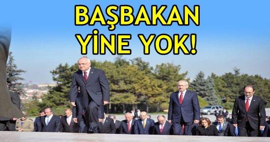 BAŞBAKAN, ANITKABİR'DE YİNE YOK!