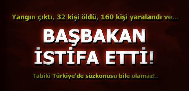 BAŞBAKAN İSTİFA ETTİ...