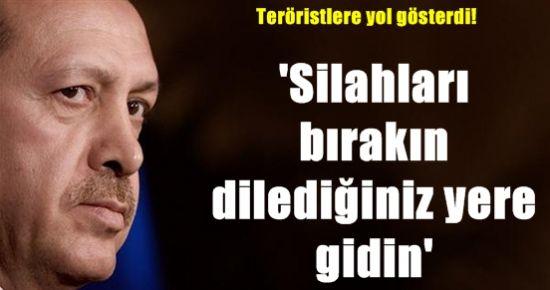 BAŞBAKAN, PKK'LILARA YOL GÖSTERDİ!