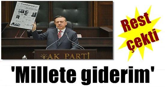 BAŞBAKAN REST ÇEKTİ
