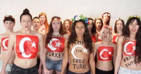 BİR DESTEKTE FEMEN'DEN...