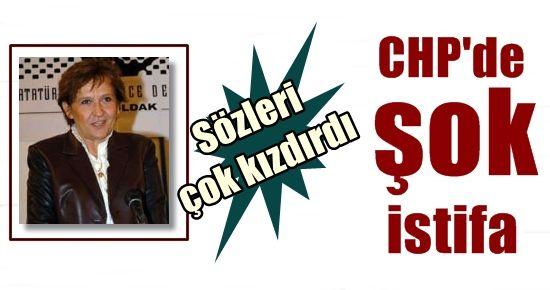 CHP'DE ŞOK İSTİFA...