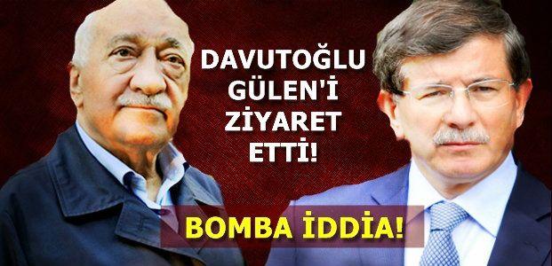 DAVUTOĞLU, GÜLEN'İ ZİYARET ETTİ!