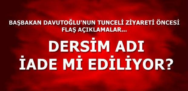 DERSİM ADI İADE Mİ EDİLİYOR...
