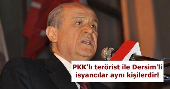 'DERSİM' KONUSU BAHÇELİ'Yİ ÇILDIRTTI!