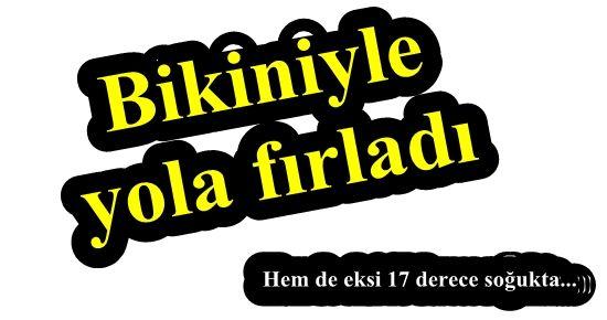 EKSİ 17 DERECE DE ANA CADDEDE ÇIPLAK KOŞU!