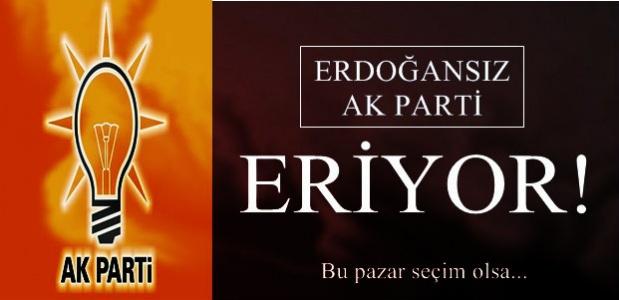 ERDOĞAN'SIZ AK PARTİ ERİYOR!