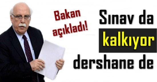 FLAŞ AÇIKLAMA! SBS KALKIYOR, DERSHANE KAPANIYOR