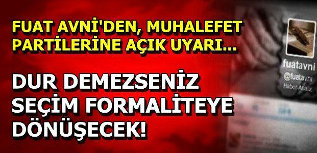 FUAT AVNİ'DEN SİMÜLASYON İDDİASI...