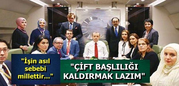 GÜNDEMİNBE BAŞKANLIK SİSTEMİ VARDI...