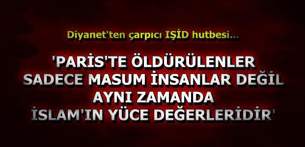 IŞİD'E KARŞI HUTBE...