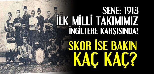 İŞTE 103 YIL ÖNCEKİ O MAÇIN SKORU...