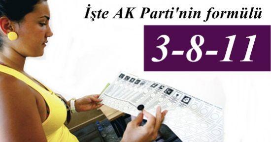 İŞTE AK PARTİ'NİN 3-8-11 FORMÜLÜ