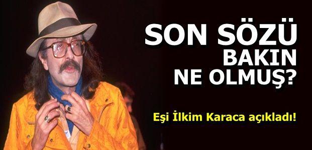 İŞTE CEM KARACA'NIN SON SÖZÜ...