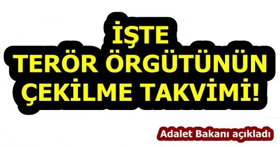 İŞTE PKK'NIN ÇEKİLME TAKVİMİ!