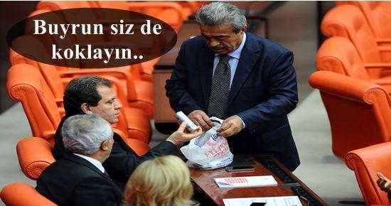 MECLİS GENEL KURULUNDA GAZ BOMBASI!