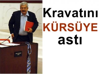 MECLİS'TE KRAVATLI PROTESTO