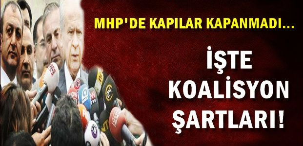 MHP YOL HARİTASINI BELİRLEDİ...