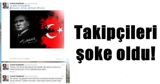 OSMAN BAYDEMİR'İN TWİTTER'INDA ATATÜRK RESMİ!
