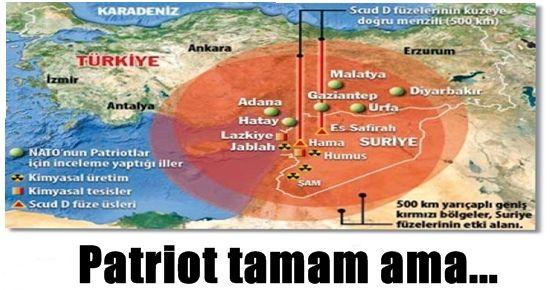 PATRİOT TAMAM AMA TEHLİKE HALA VAR...