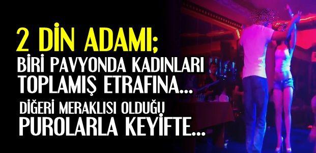PAVYONDA İKİ DİN ADAMI...